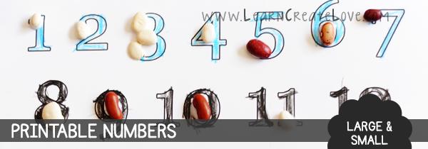 Printable Letters Numbers Learncreatelove