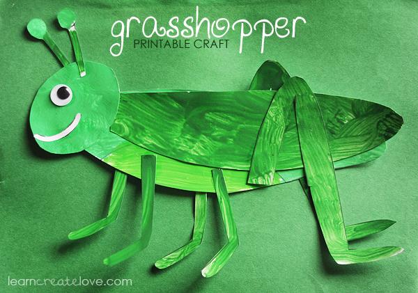 printable grasshopper craft