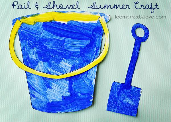 Pail Shovel Summer Craft
