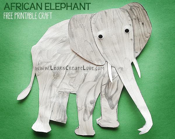 African elephant printable craft learncreatelove african elephant printable craft maxwellsz