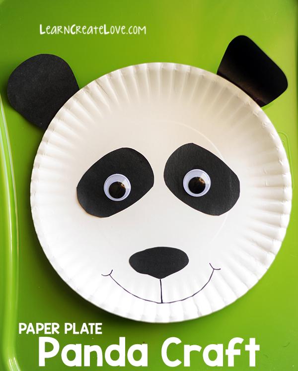 sc 1 st  LearnCreateLove & Paper Plate Panda Craft